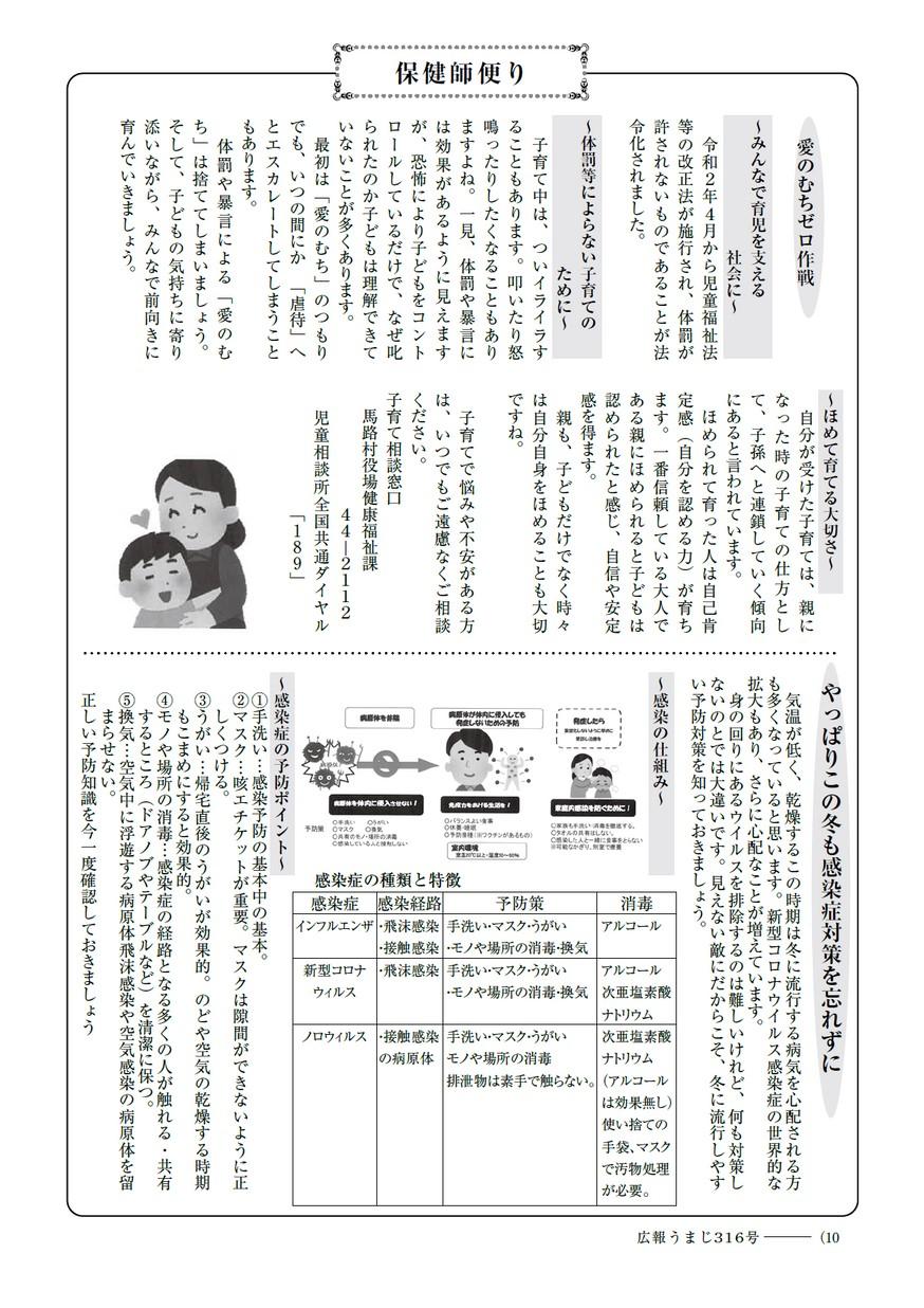 広報うまじ12月号